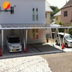Solar pv panel car roof racks/solar mounting brackets/flexible solar carport racking system